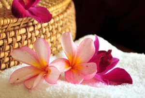 цветы на полотенце